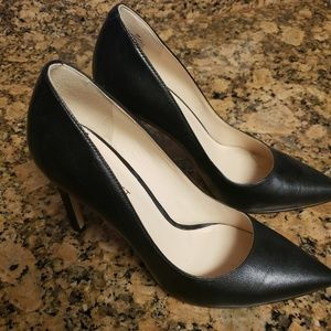"Nine West Black Pointy Heels 4"" Size 7.5"